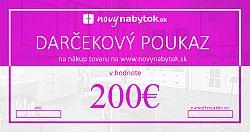 Darčekový poukaz v hodnote 200€