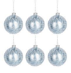 Dekoratívny predmet Vianočná dekorácia (8x8x9cm) (Modrá)