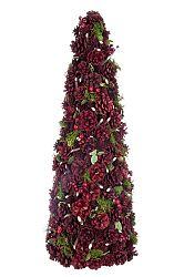 Dekoratívny predmet Vianočný kužeľ Christmas Spirit (26x26x70cm) (Červená)