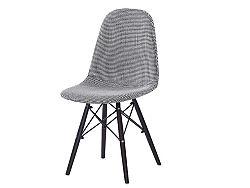 Jedálenská stolička Ampera (čierna + biela)