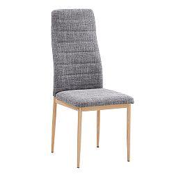 Jedálenská stolička Coleta nova (svetlosivá + buk)