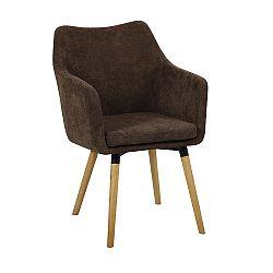 Jedálenská stolička Dabir (tmavohnedá)