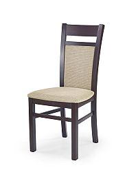Jedálenská stolička Gerard 2 (orech tmavý + béžová)