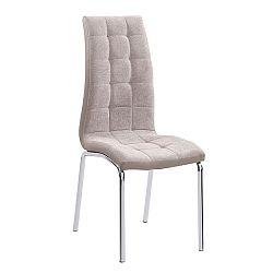 Jedálenská stolička Gerda new (béžová + chróm)