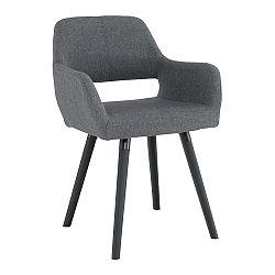 Jedálenská stolička Godric (tmavosivá)