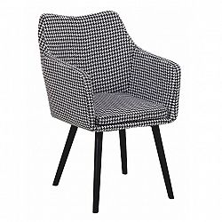 Jedálenská stolička Landor (čierno biely vzor)