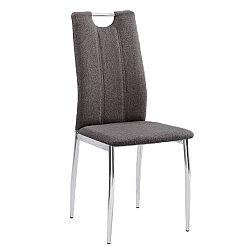 Jedálenská stolička Oliva new (hnedosivá + chróm)