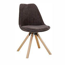 Jedálenská stolička Sabra (sivohnedá)