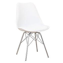 Jedálenská stolička Tamora (biela + chróm)