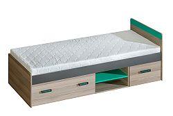 Jednolôžková posteľ 80 cm Ulmo U7 (s roštom a úl. priestorom)