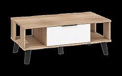 Konferenčný stolík Sven SVN-05 (dub sonoma svetlá + biely lesk)