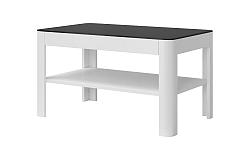 Konferenčný stolík Toft Typ 99 (biela + čierne sklo)