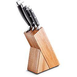 Kuchynský nôž Fastplus Lamart Damas set+blok (strieborná) (3ks)