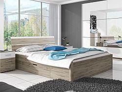 Manželská posteľ 160 cm Benson Typ 51 (san remo svetlý + biela)