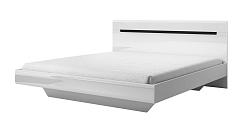 Manželská posteľ 160 cm Hayle Typ 31 (biela + biely vysoký lesk)