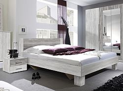 Manželská posteľ 160 cm Verwood Typ 51 (canyon svetlá + tmavá) (s noč. stolíkmi)