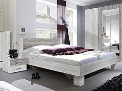 Manželská posteľ 180 cm Verwood Typ 52 (canyon svetlá + tmavá) (s noč. stolíkmi)