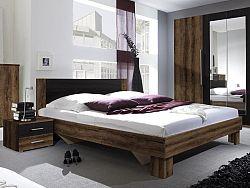 Manželská posteľ 180 cm Verwood Typ 52 (monastery + čierna) (s noč. stolíkmi)