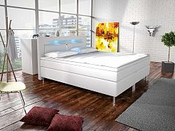 Manželská posteľ Boxspring 180 cm Marilia I (biela) (s matracmi)