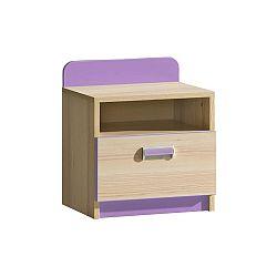 Nočný stolík Lavendon L12 (fialová)