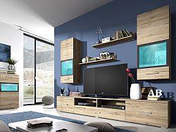 Obývacia stena Sapphire Typ 09 (dub san remo)