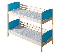 Poschodová posteľ 80 cm Tini (s roštami)
