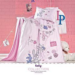 Posteľná bielizeň 120x90 cm Cori (ružová) (komplet s obliečkou na vankúš)
