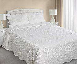 Prehoz na posteľ 210x170cm Agnes (krémová)