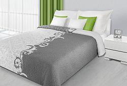 Prehoz na posteľ 210x170cm Aisha (metalická)
