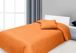 Prehoz na posteľ 210x170cm Hugo (oranžová)