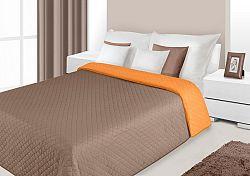 Prehoz na posteľ 260x230cm Alex (oranžová + hnedá)