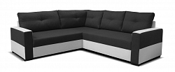 Rohová sedačka Arenna BL+2+TAB (čierna + sivá) (P)