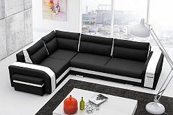 Rohová sedačka Asperata (čierna + biela) (L)