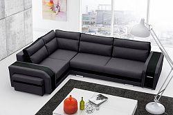 Rohová sedačka Asperata (tmavosivá + čierna) (L)