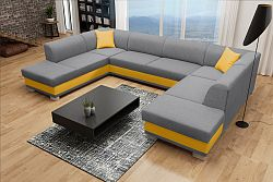 Rohová sedačka U Darcia (sivá+ žltá) (L)