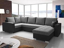 Rohová sedačka U Lambert (sivá + čierna) (L)