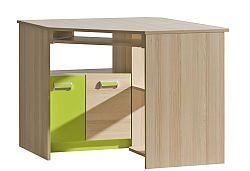 Rohový PC stolík Ego L11 zelená
