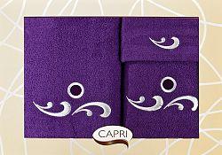 Súprava uterákov Lezka 55 (slivková)