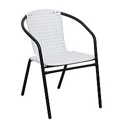 Záhradná stolička Bergola (biela + čierna)