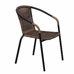 Záhradná stolička Doren (hnedá + čierna)