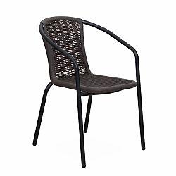 Záhradná stolička Varda (čierna)