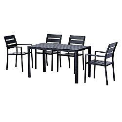 Záhradný nábytok Gurduk 1+4 (čierna)