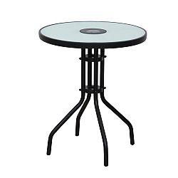 Záhradný stôl Olivan (čierna)